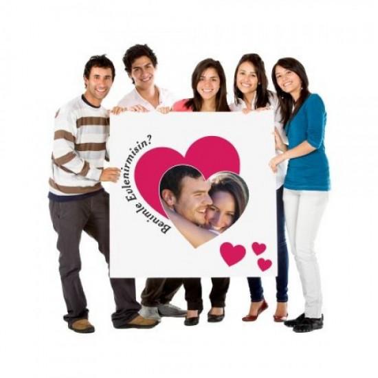Evlilik Teklifi Afiş Pankartı / 50x70cm, Evlilik Teklifi Afiş Pankartı / 50x70cm fiyatı