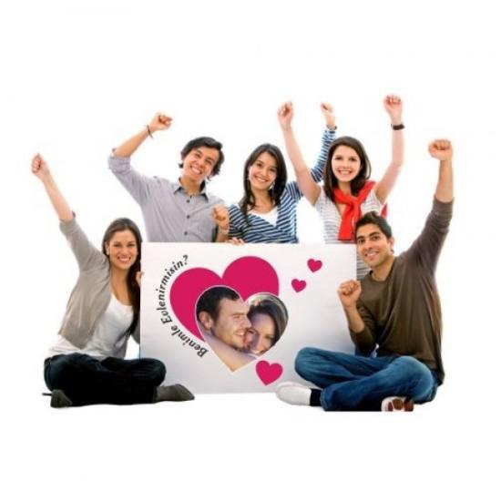 Evlilik Teklifi Afiş Pankartı / 100x200cm, Evlilik Teklifi Afiş Pankartı / 100x200cm fiyatı
